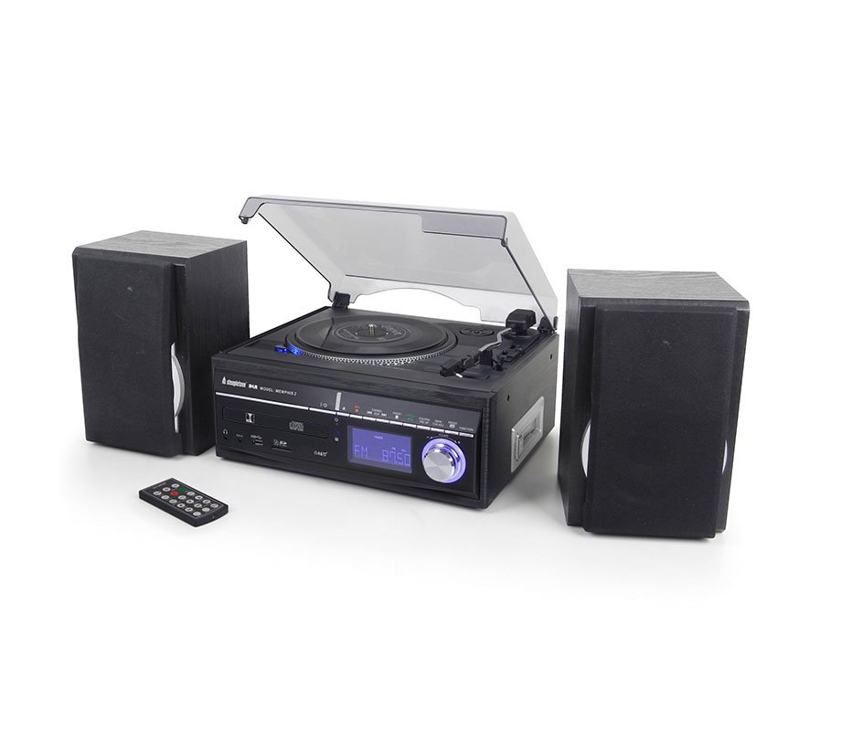 Steepletone Memphis 5 In1 Music Centre With Turntable Cd