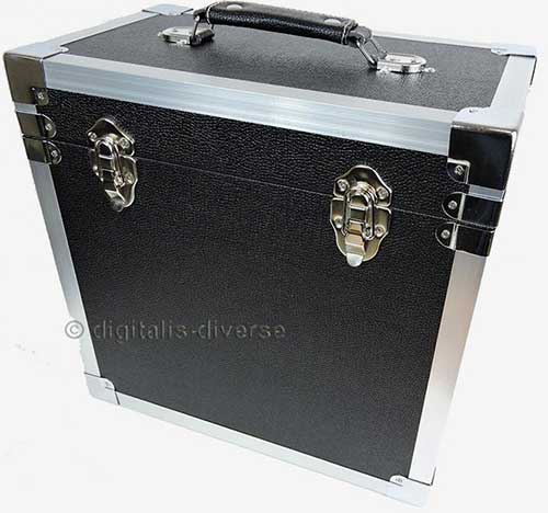 Steepletone Record Box Flight Case For Lps And 12 Singles