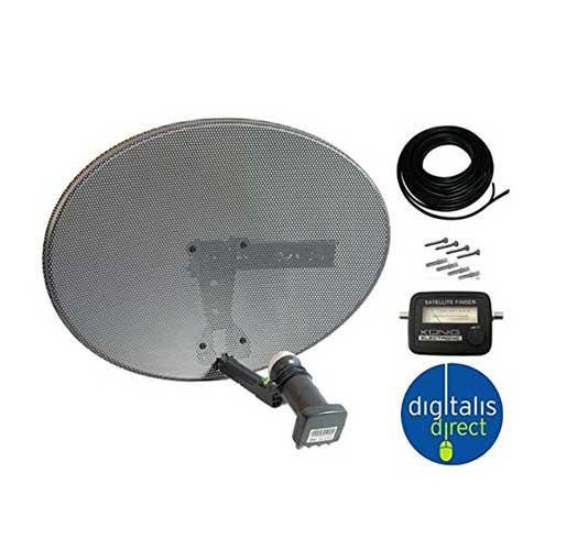 how to connect cable to satellite dish