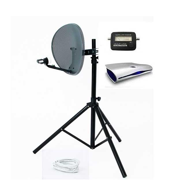 Caravan Satellite System Receiver Tripod Dish And