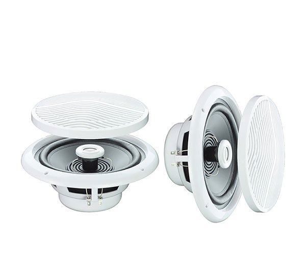 Pair Of 5 80w 4 Ohm Moisture Resistant Ceiling Speakers