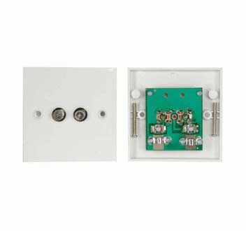 Twin Satellite F Type Wall Plate With Pcb Digitalis
