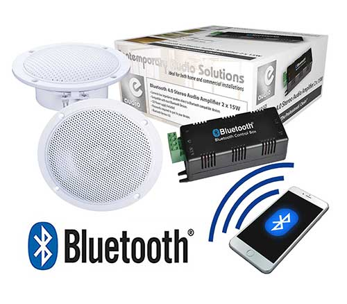Waterproof ceiling speakers for bathroom - Kitchen Or Bathroom Bluetooth Ceiling Speaker System