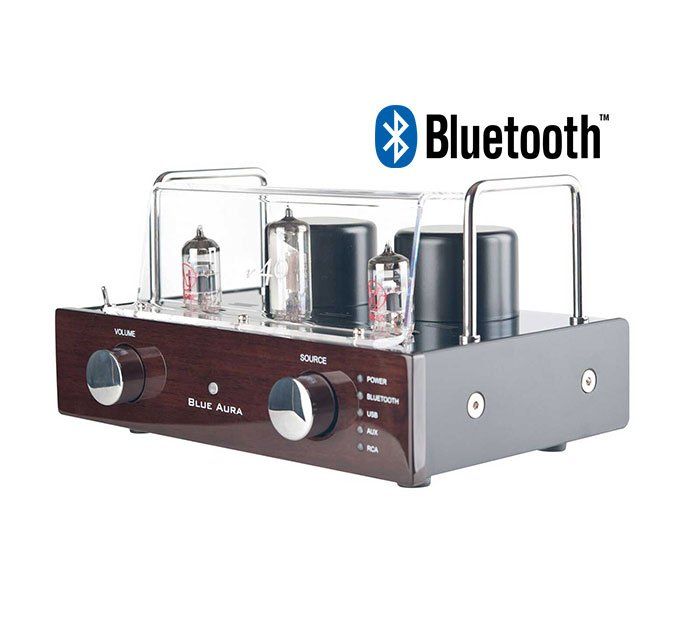 Blue Aura V40 Bluetooth Hybrid Valve Amp in Walnut